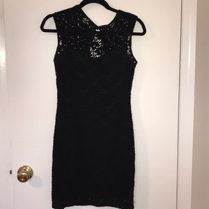 2b Bebe lace overlay little black dress